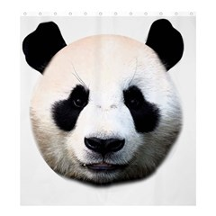 Panda Face Shower Curtain 66  X 72  (large)  by Valentinaart