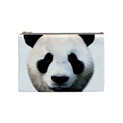 Panda Face Cosmetic Bag (medium)  by Valentinaart
