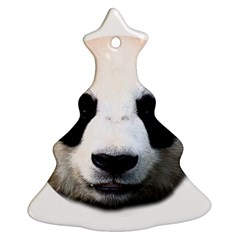 Panda Face Christmas Tree Ornament (two Sides) by Valentinaart