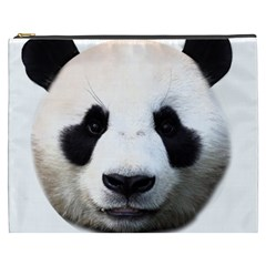Panda Face Cosmetic Bag (xxxl)  by Valentinaart