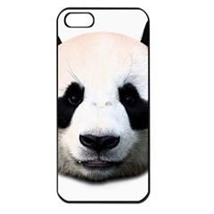 Panda Face Apple Iphone 5 Seamless Case (black) by Valentinaart