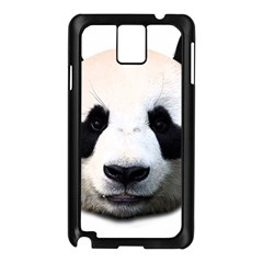 Panda Face Samsung Galaxy Note 3 N9005 Case (black) by Valentinaart