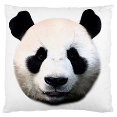 Panda Face Large Flano Cushion Case (two Sides) by Valentinaart