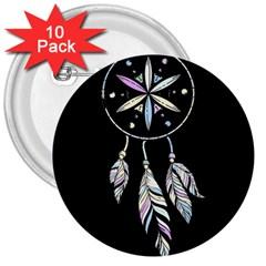 Dreamcatcher  3  Buttons (10 Pack)  by Valentinaart