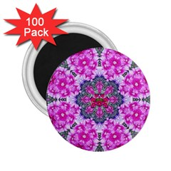 Fantasy Cherry Flower Mandala Pop Art 2 25  Magnets (100 Pack)  by pepitasart