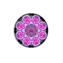 Fantasy Cherry Flower Mandala Pop Art Hat Clip Ball Marker (4 Pack) by pepitasart