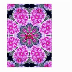 Fantasy Cherry Flower Mandala Pop Art Large Garden Flag (two Sides) by pepitasart