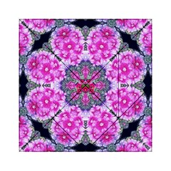 Fantasy Cherry Flower Mandala Pop Art Acrylic Tangram Puzzle (6  X 6 ) by pepitasart