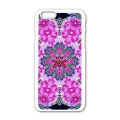 Fantasy Cherry Flower Mandala Pop Art Apple Iphone 6/6s White Enamel Case by pepitasart