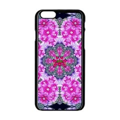 Fantasy Cherry Flower Mandala Pop Art Apple Iphone 6/6s Black Enamel Case by pepitasart