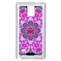 Fantasy Cherry Flower Mandala Pop Art Samsung Galaxy Note 4 Case (white) by pepitasart