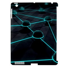 3d Balls Rendering Lines  Apple Ipad 3/4 Hardshell Case (compatible With Smart Cover) by amphoto