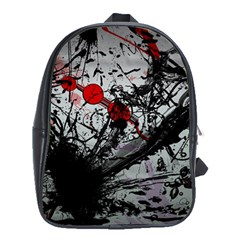 Black & Red Mess School Bag (xl) by amphoto