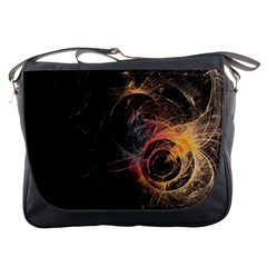 Circles Lines Spots Background Colorful Wreath  Messenger Bags by amphoto