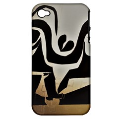 With Love Apple Iphone 4/4s Hardshell Case (pc+silicone) by MRTACPANS