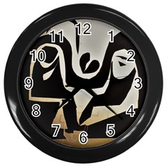 With Love Wall Clocks (black) by MRTACPANS