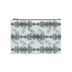 Floral Collage Pattern Cosmetic Bag (medium)  by dflcprints