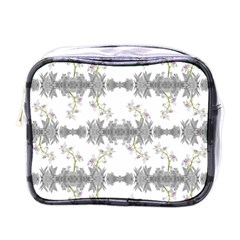 Floral Collage Pattern Mini Toiletries Bags by dflcprints