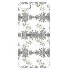 Floral Collage Pattern Apple Iphone 5 Hardshell Case With Stand by dflcprints