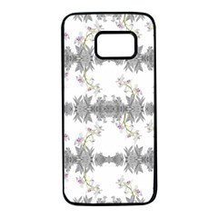 Floral Collage Pattern Samsung Galaxy S7 Black Seamless Case by dflcprints