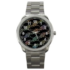 Birds With Nest Rainbow Sport Metal Watch by ssmccurdydesigns