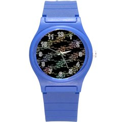 Birds With Nest Rainbow Round Plastic Sport Watch (s) by ssmccurdydesigns