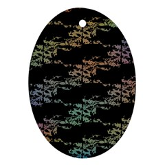Birds With Nest Rainbow Ornament (oval) by ssmccurdydesigns