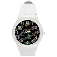 Birds With Nest Rainbow Round Plastic Sport Watch (m) by ssmccurdydesigns