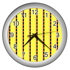 Pattern Background Wallpaper Banner Wall Clocks (silver)