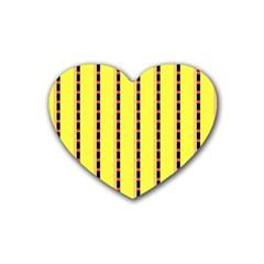 Pattern Background Wallpaper Banner Rubber Coaster (heart)