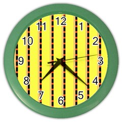 Pattern Background Wallpaper Banner Color Wall Clocks by Nexatart