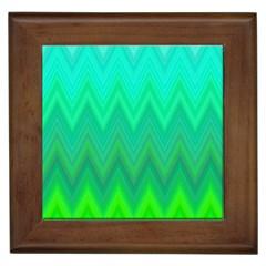 Zig Zag Chevron Classic Pattern Framed Tiles