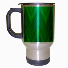 Zig Zag Chevron Classic Pattern Travel Mug (silver Gray) by Nexatart