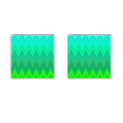 Zig Zag Chevron Classic Pattern Cufflinks (square) by Nexatart