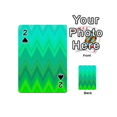 Zig Zag Chevron Classic Pattern Playing Cards 54 (mini)  by Nexatart
