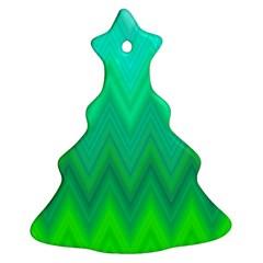 Zig Zag Chevron Classic Pattern Christmas Tree Ornament (two Sides)