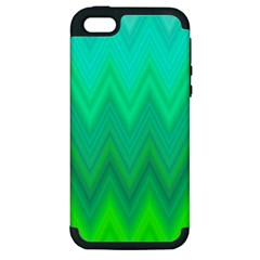 Zig Zag Chevron Classic Pattern Apple Iphone 5 Hardshell Case (pc+silicone)