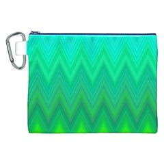 Zig Zag Chevron Classic Pattern Canvas Cosmetic Bag (xxl) by Nexatart
