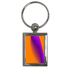 Lines Network The Ribbon Red Key Chains (rectangle)