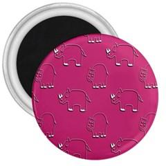 Rhino Pattern Wallpaper Vector 3  Magnets