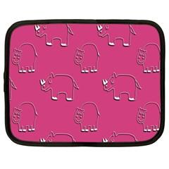 Rhino Pattern Wallpaper Vector Netbook Case (large)