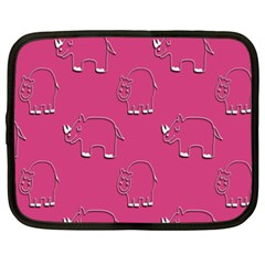Rhino Pattern Wallpaper Vector Netbook Case (xxl)  by Nexatart