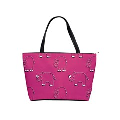 Rhino Pattern Wallpaper Vector Shoulder Handbags