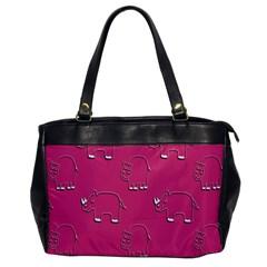 Rhino Pattern Wallpaper Vector Office Handbags