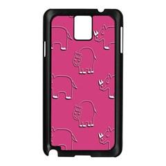 Rhino Pattern Wallpaper Vector Samsung Galaxy Note 3 N9005 Case (black)