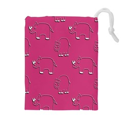 Rhino Pattern Wallpaper Vector Drawstring Pouches (extra Large)