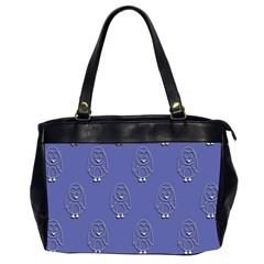 Owl Pattern Wallpaper Vector Office Handbags (2 Sides)