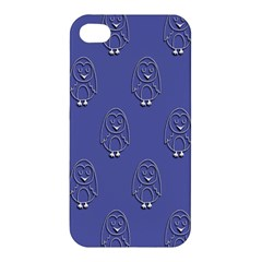 Owl Pattern Wallpaper Vector Apple Iphone 4/4s Hardshell Case