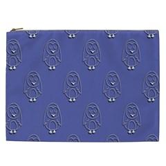 Owl Pattern Wallpaper Vector Cosmetic Bag (xxl)  by Nexatart