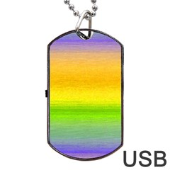 Ombre Dog Tag Usb Flash (two Sides) by ValentinaDesign